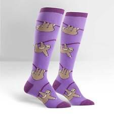 Sock It To Me Women's Funky Knee High Socks - Sloth