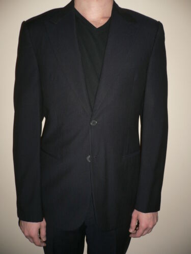 2pcs Classique Costume Giorgio Noir Armani Laine Veste Ensemble Hommes qZPWwgUWxO