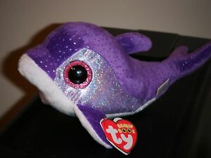 Ty Beanie Boos ~ FLIPS the Purple Dolphin (6 Inch) NEW MWMT