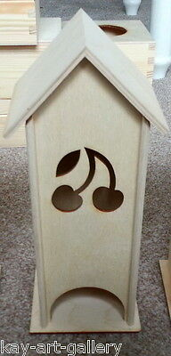 PLAIN WOODEN BOX FOR DECOUPAGE  / TEA HOUSE / CRAFT / SOUVENIRS / CHERRY DESIGN