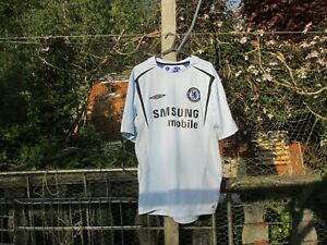 in stock 36212 5164e Details about Umbro Chelsea 2005/06 05/06 Away (L) Large Jersey Football  Shirt Robben #16