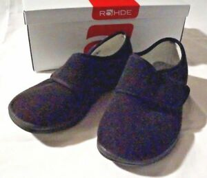 Details about Rohde Med Therapy Shoe Seniors Removable Footbed Velcro Black 37 closed show original title
