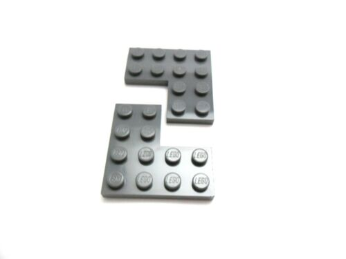 LEGO Eckplatte Winkelplatte 4x4 Noppen in Neu-Dunkelgrau 2639 MENGEN-AUSWAHL