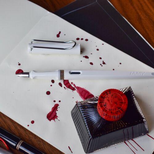 Lamy Joy White Special Edition Calligraphy Fountain Pen 1.5mm Stub Nib