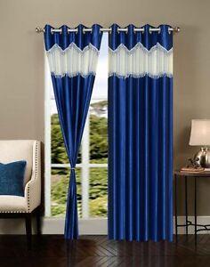 Exporthub Beautiful Elegent Ready Made Fancy Eyelet Door curtain - 1 Pcs