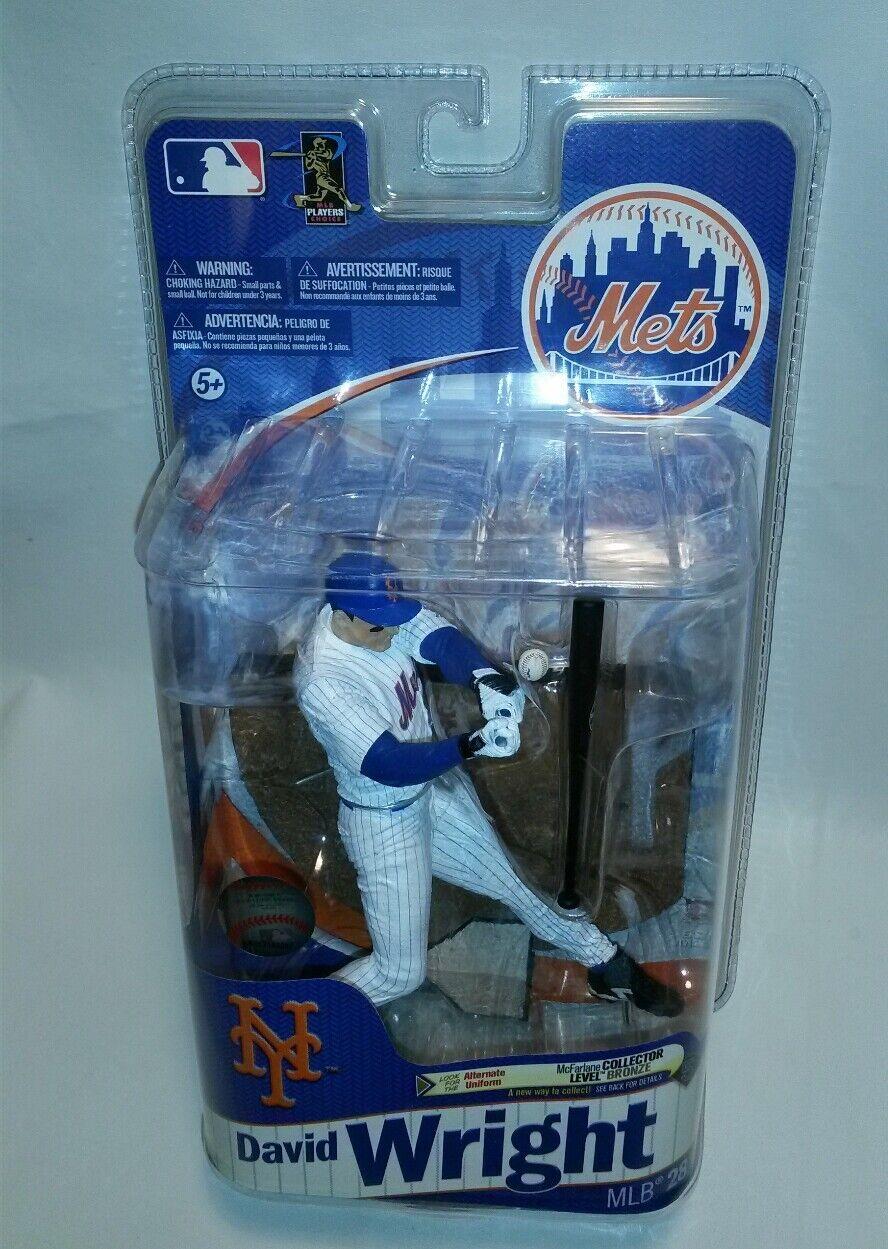 NEW RARE McFarlane DAVID WRIGHT MLB Series 28 New York Mets ALT WHITE JERSEY