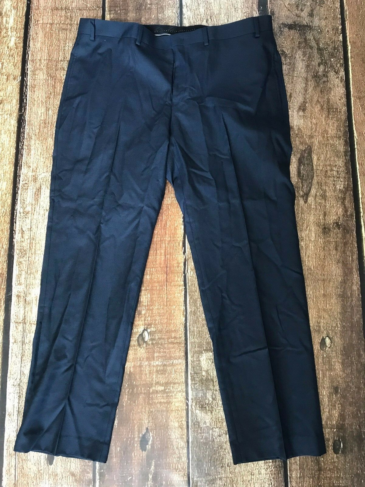 ANDREW MARC SUIT PANTS NAVY MENS SIZE 37X30 NEW WITH TAG