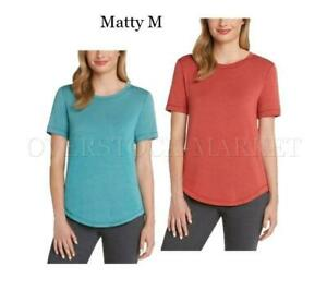 Matty M Ladies French Terry Tee Charcoal, S