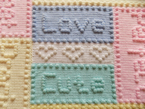 CROCHET PATTERN Baby Blanket Precious Motif Words by Peach.Unicorn