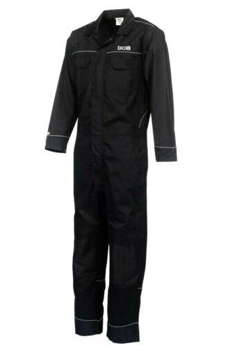 JCB Trade Coveralls Mens Knee Pad Heavy Duty Overalls Boilersuit Work Mechanics