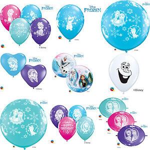 DISNEY-FROZEN-Qualatex-Latex-amp-Bubble-Balloons-Birthday-Party-Anna-Elsa-Olaf
