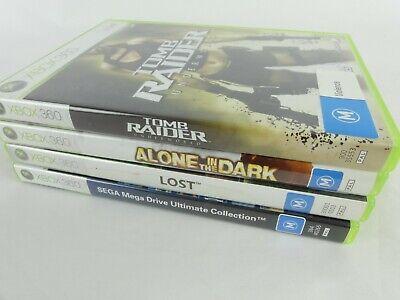 Lot Of 4 Xbox 360 Games Tomb Raider Alone In The Dark Lost