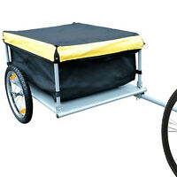 Tenive Bicycle Bike Cargo Luggage Trailer Cart Carrier Shopping Black/yellow