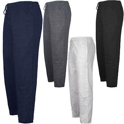 Mens Fleece Pant Elasticated Hem Comfort New Plain Jogger Pocket Jogging Bottoms