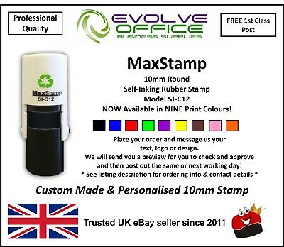 Round Self Inking Kids Teacher Stamp RIGHT /& CHECK Personalized Custom Shiny 20mm Mini Rubber Stamp