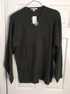 Geoffrey-Beene-Vintage-Dark-Green-Sweater-XL