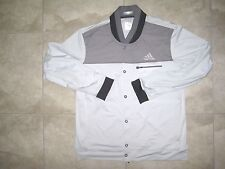 Adidas BARRICADE Gray Black Tennis XL Warm Up Andy Murray Jacket Coat USED