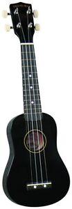 BOLD BLACK Diamond Head Soprano Maple Ukulele free instrument carry bag too