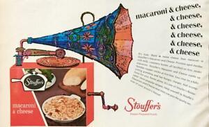 1964-Stouffer-039-s-Frozen-Macaroni-amp-Cheese-Print-Ad-Fun-Victrola-Illustration
