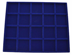 Coin-Tray-Blue-Velour-230-mm-x-183-mm-Suitable-for-22-5-mm-to-41-mm-Coins
