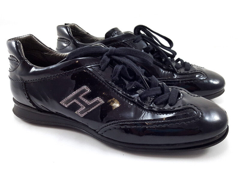 Hogan interactive interactive interactive azul charol Zapatos Zapatillas De Moda Para Mujer Talla 5.5 de EE. UU.  selección larga
