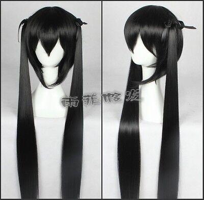 K-ON ! Nakano Azusa Cosplay Perücke wig lang long zopf tail schwarz black v.2