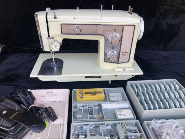 Vintage Sears Best Kenmore Sewing Machine Heavy Duty 4040 W Impressive Kenmore Sewing Machine Cabinet Ebay