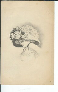 AY-042-Pretty-Woman-in-Hat-Artist-Signed-Dixon-1907-1915-Golden-age-Postcard