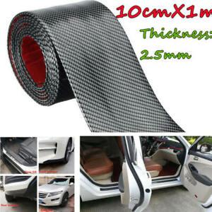 Car-Sticker-Carbon-Fiber-Rubber-DIY-Door-Sill-Protector-Edge-Guard-Strip-10CM-1M
