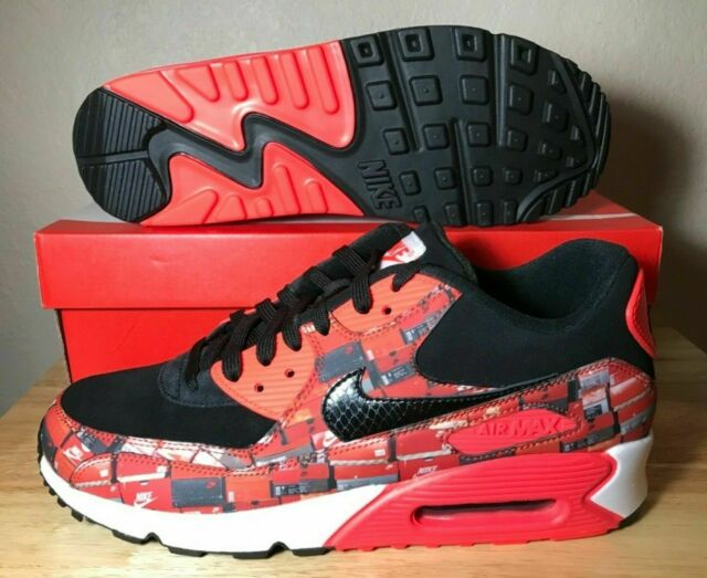 9c644d15cf Nike Air Max 90 Print x Atmos We Love Nike Shoe's Crimson Black AQ0926-001