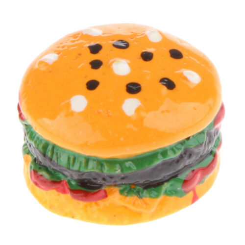 10er Set Miniatur Essen Hamburger Für 1:12 Puppenhaus Küchen Deko