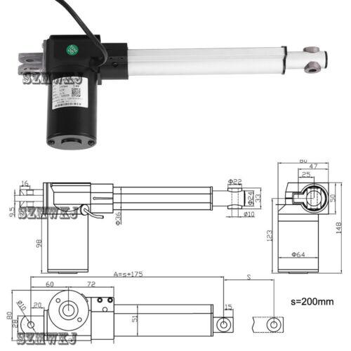 Electric 12V 150-400mm Stroke Linear Actuator 6000N 1320LBS Max Lift DC Motors