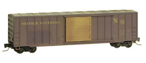 Norfolk-Southern-50-039-Rib-Side-Box-Car-Weathered-MTL-510-56-140-Z-Scale-NEW