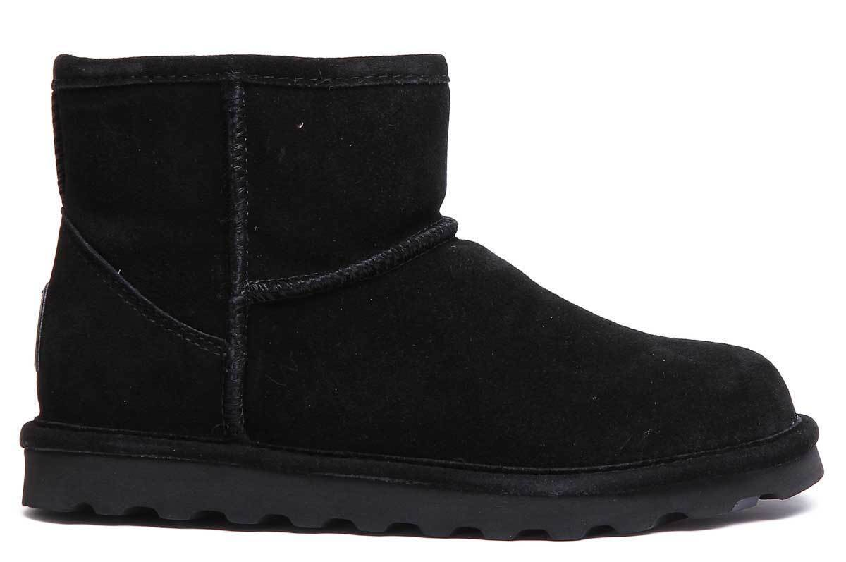 Bearpaw Alyssa Womens Suede Leather Black Snow Ankle Boots Boots Boots UK Size 3 - 8 a0aba8