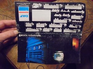 Petit-Livret-Catalogue-Ancien-Camion-Daf-Gamme-Industrielle