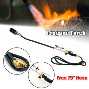 Push Button Igniter Propane Torch Wand Ice Snow Melter Weed Burner Roofing New!