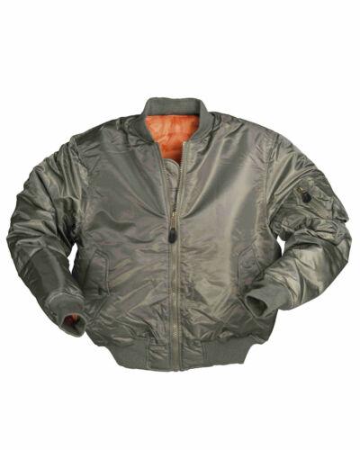Mil-Tec US FLIEGERJACKE TYP MA1 PES OLIV Outdoorjacke Jacke