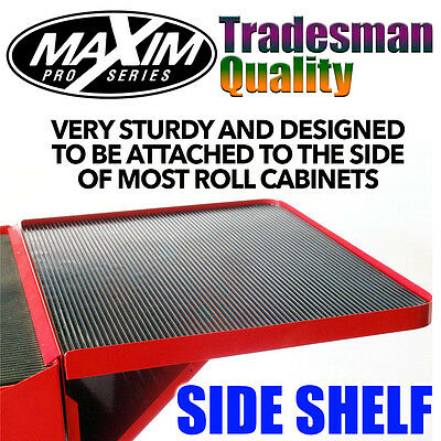 MAXIM Side Shelf - Suit Tool Box Roll Cabinet Chest Roller Extra Storage Red