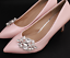 A Pair of Pearl Rhinestone Crystal Vintage Fashion Ladies Shoe Clips