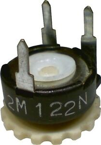 Lot-of-5-Piher-10mm-Thumbwheel-Potentiometer-2M-Horizontal-Linear-PT10YV-2MA