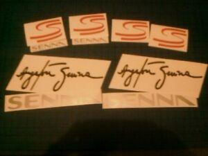 Senna-F1-Tribute-Memory-10-Decals-Stickers-F1-Legend