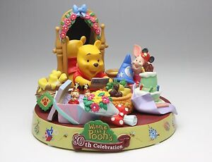 Tokyo Disneyland Winnie The Pooh 80th Anniversary Resin Figurine