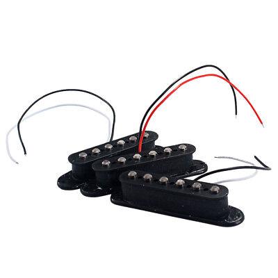 3pcs Red Single Coil Gitarren Pickup Neck Middle Bridge für