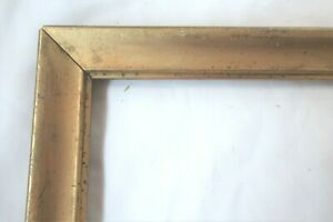 ANTIQUE FITS 11X16 LEMON GOLD GILT PICTURE FRAME WOOD FINE ART COUNTRY PRIMITIVE