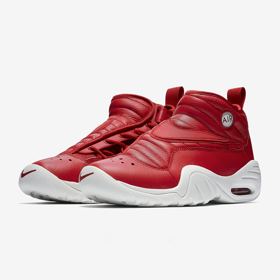 Nike Air Shake Ndestrukt Gym Red White Leather Dennis Rodman Bulls 880869-600