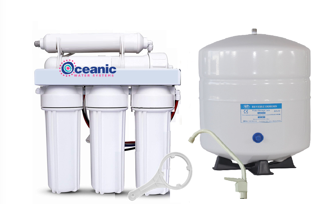 Oceanic Home Pure RO Reverse Osmosis Water Filter System 5 Stage 100 GPD   USA