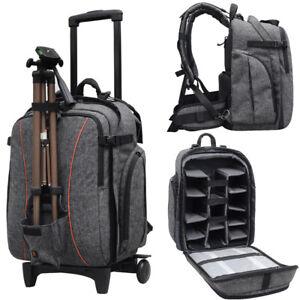 Professional-Waterproof-DSLR-Camera-Trolley-Bag-Laptop-Backpack-Rucksack-Daypack