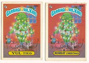 1987 Garbage Pail Kids Cards Series 8 297a Yul Tied 297b Murray Christmas Ebay
