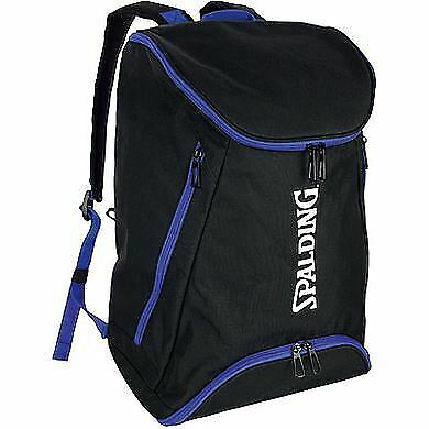 Black//Royal Spalding Backpack Large Basketball /& Sports Equipment Rucksack Bag