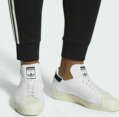 new product 58b58 c5f2d CQ2231 Men's Adidas SUPERSTAR 80s Originals PK Primeknit Trainers Shoes  UK-9,5